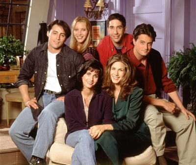 Jennifer Aniston, Courteney Cox, Lisa Kudrow, Matt LeBlanc, Matthew Perry and David Schwimmer in the first season of  Friends