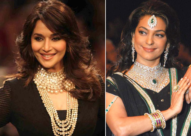 Madhuri Dixit and Juhi Chawla, who were once considered cut throat rivals, will be seen together on screen for the first time