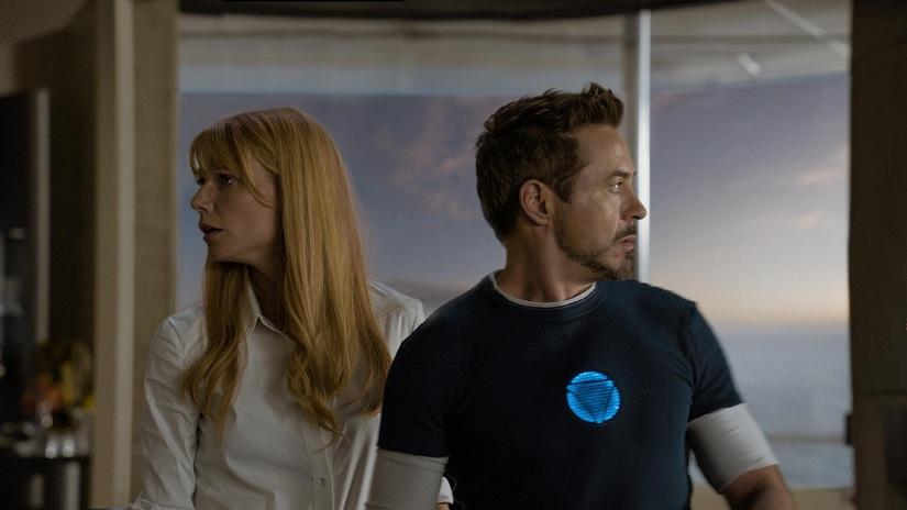 Gwyneth Paltrow and Robert Downey Jr. in  Iron Man 3