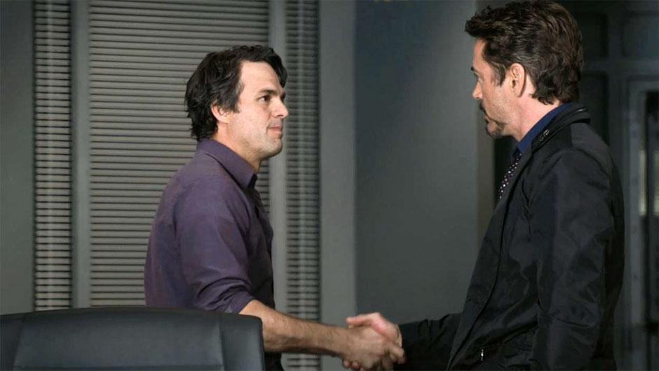 Mark Ruffalo and Robert Downey Jr. in  The Avengers