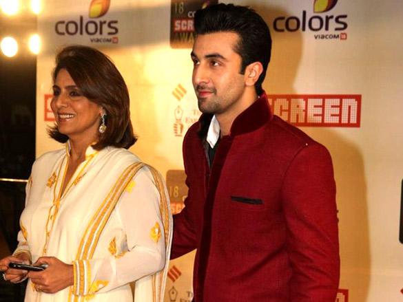 Ranbir and Neetu Kapoor at a recent awards ceremony