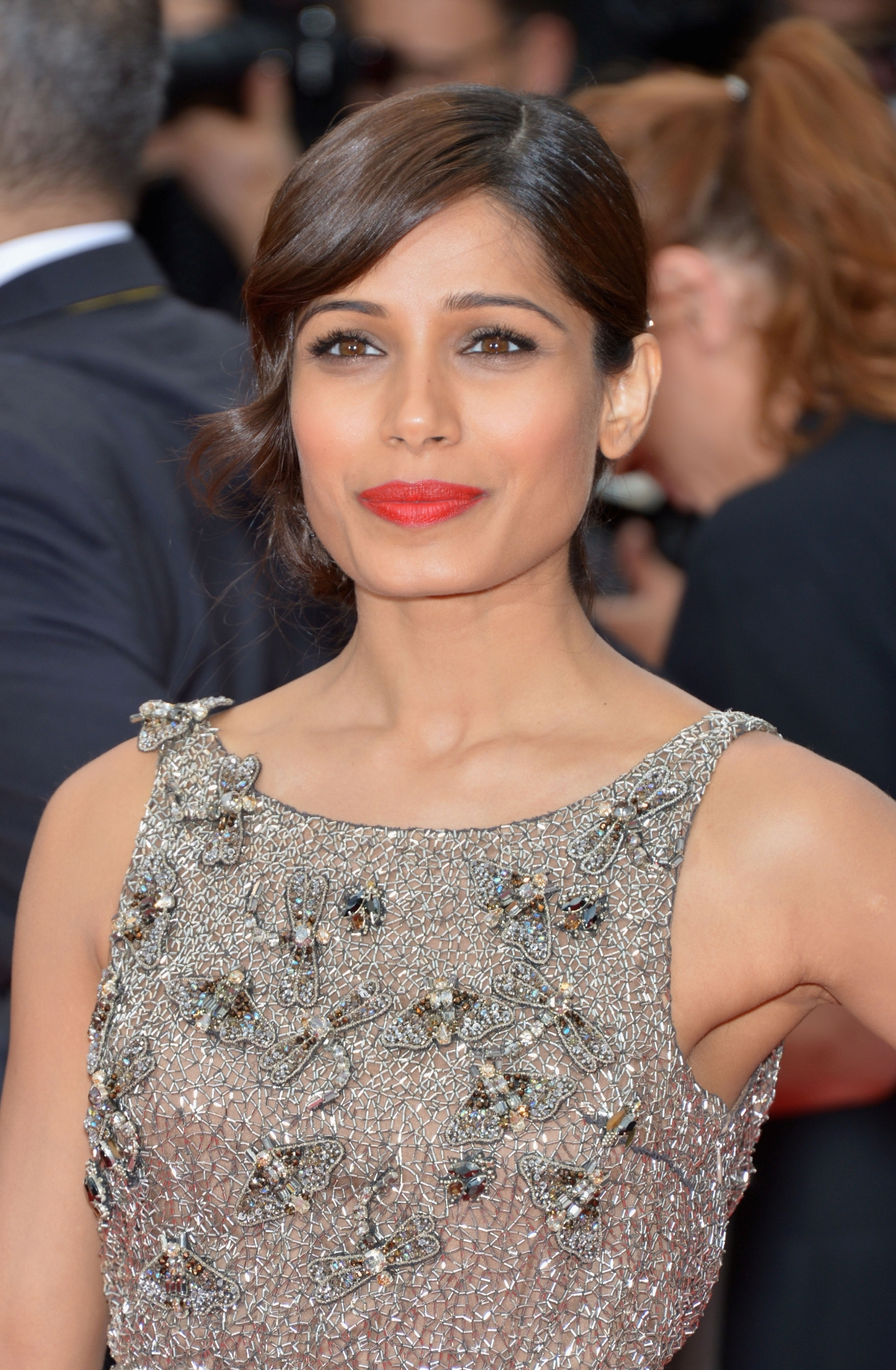 Freida Pinto in Sanchita Ajjampur at Cannes