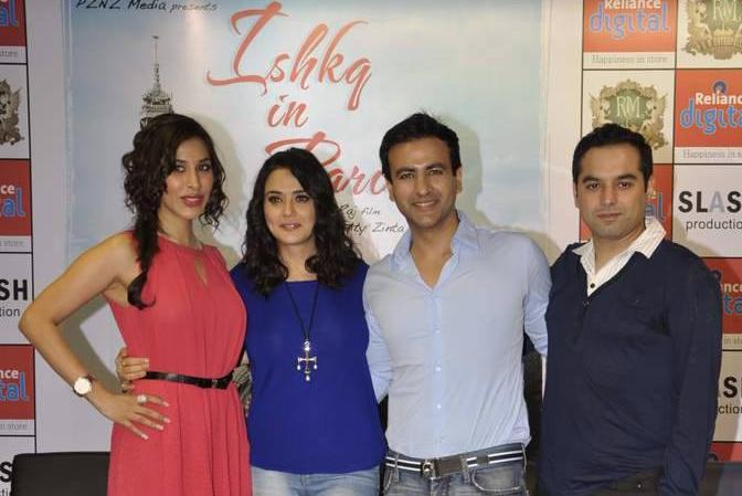 Sophie Choudhary, Preity Zinta, Rhehan Malliek and Prem Raj at the film's press meet