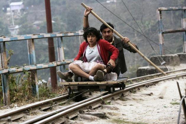 Ranbir Kapoor and Priyanka Chopra in  Barfi!