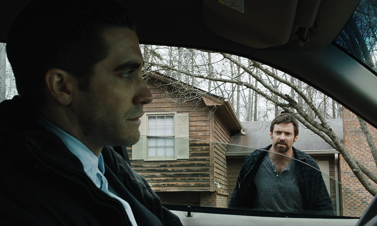 Jake Gyllenhaal and Hugh Jackman in  Prisoners