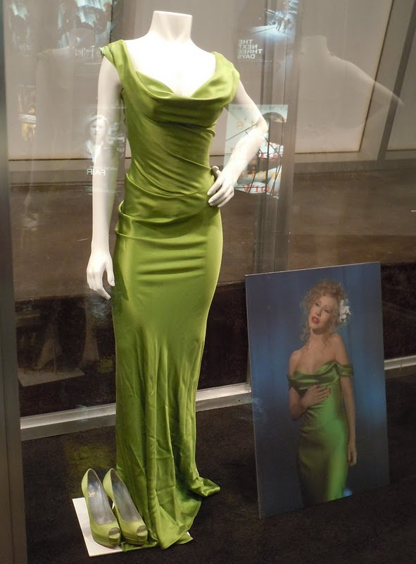 Christina Aguilera Burlesque green dress.jpg