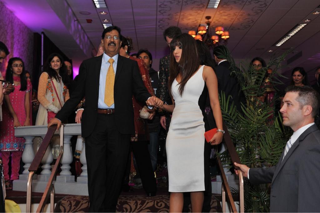 Ashok and Priyanka Chopra at a recent event