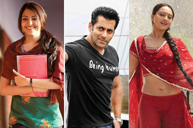 Anushka Sharma and Sonakshi Sinha are in the running for a role opposite Salman Khan