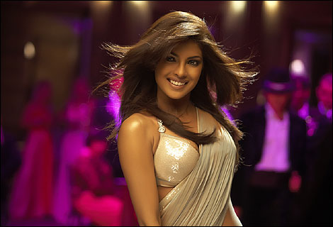 Actress and model Priyanka Chopra's beauty shines through an array of provocative yet stylish outfits throughout the film