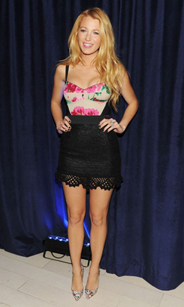 Blake Lively in D&G at Barneys, Nov 2011