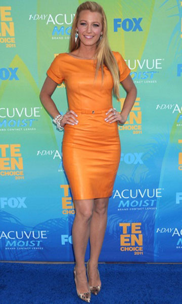 Blake Lively in Gucci at the 2011 Teen Choice Awards