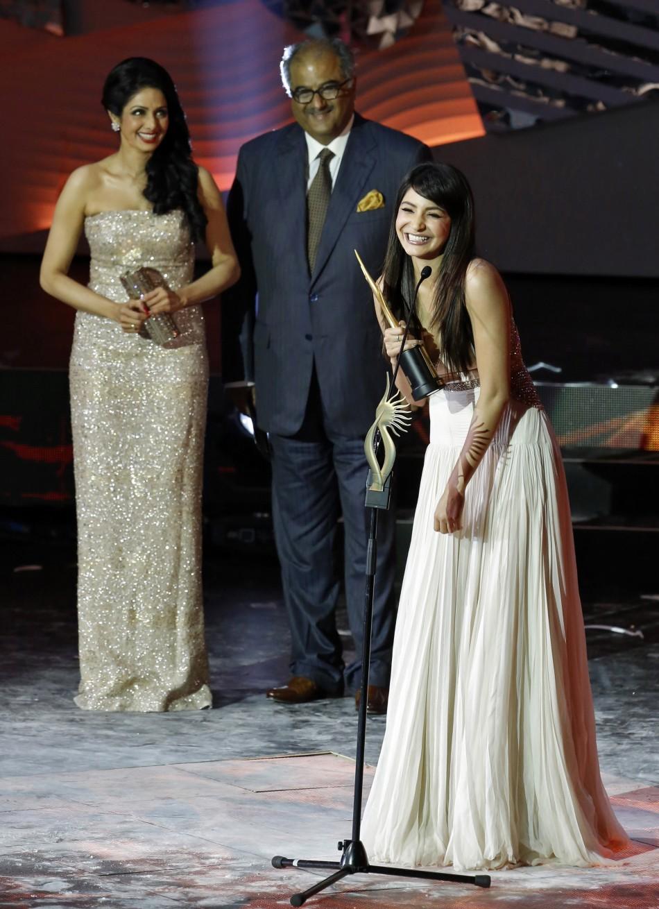 Sridevi, Boney Kapoor & Anushka Sharma