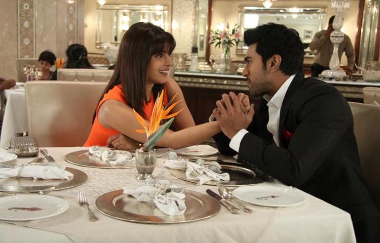 Priyanka and Ram Charan in  Zanjeer