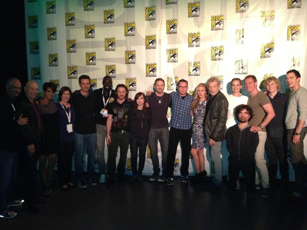 The entire cast of  X-Men Days of Future Past  at San Diego Comic Con