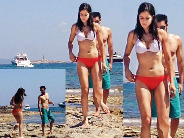 Katrina-Ranbir on a recent holiday in Ibiza