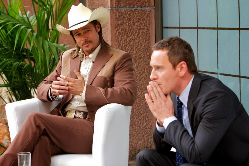 Brad Pitt and Michael Fassbender in  The Counsellor