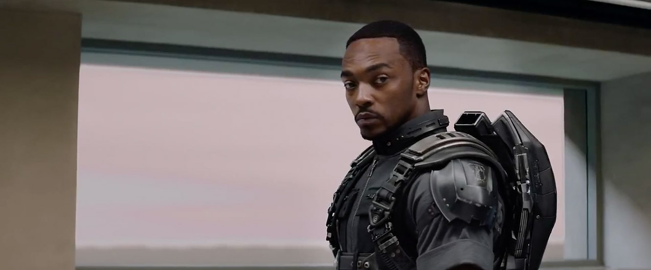 Anthony Mackie stars as The Falcon in  Captain America The Winter Soldier