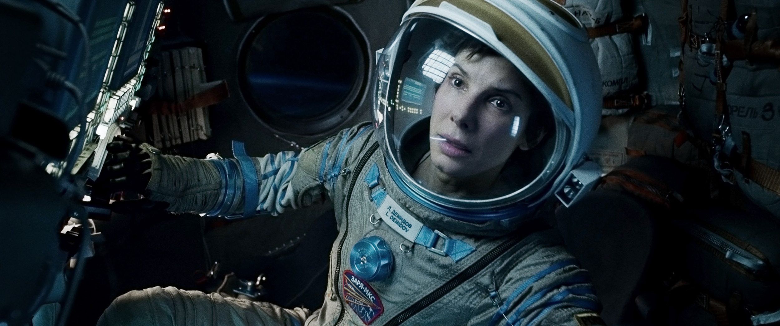 Sandra Bullock in the critically acclaimed  Gravity