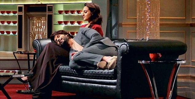 The chemistry between Shahid-Sonakshi on  Koffee With Karan  was unmistakable