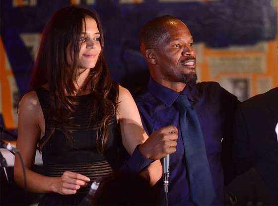 Katie Holmes and Jamie Foxx dating?    Now this one's a whopper of a surprise! Katie Holmes is rumoured to be dating Jamie Foxx after the two were spotted spending time together during the Super Bowl last weekend.  Holmes, 35, and Foxx, 46, have reportedly been seeing each other since last summer and also spent time together at his mansion in California recently.  They are keeping their relationship under wraps out of respect for Holmes' ex-husband Tom Cruise, a source said.