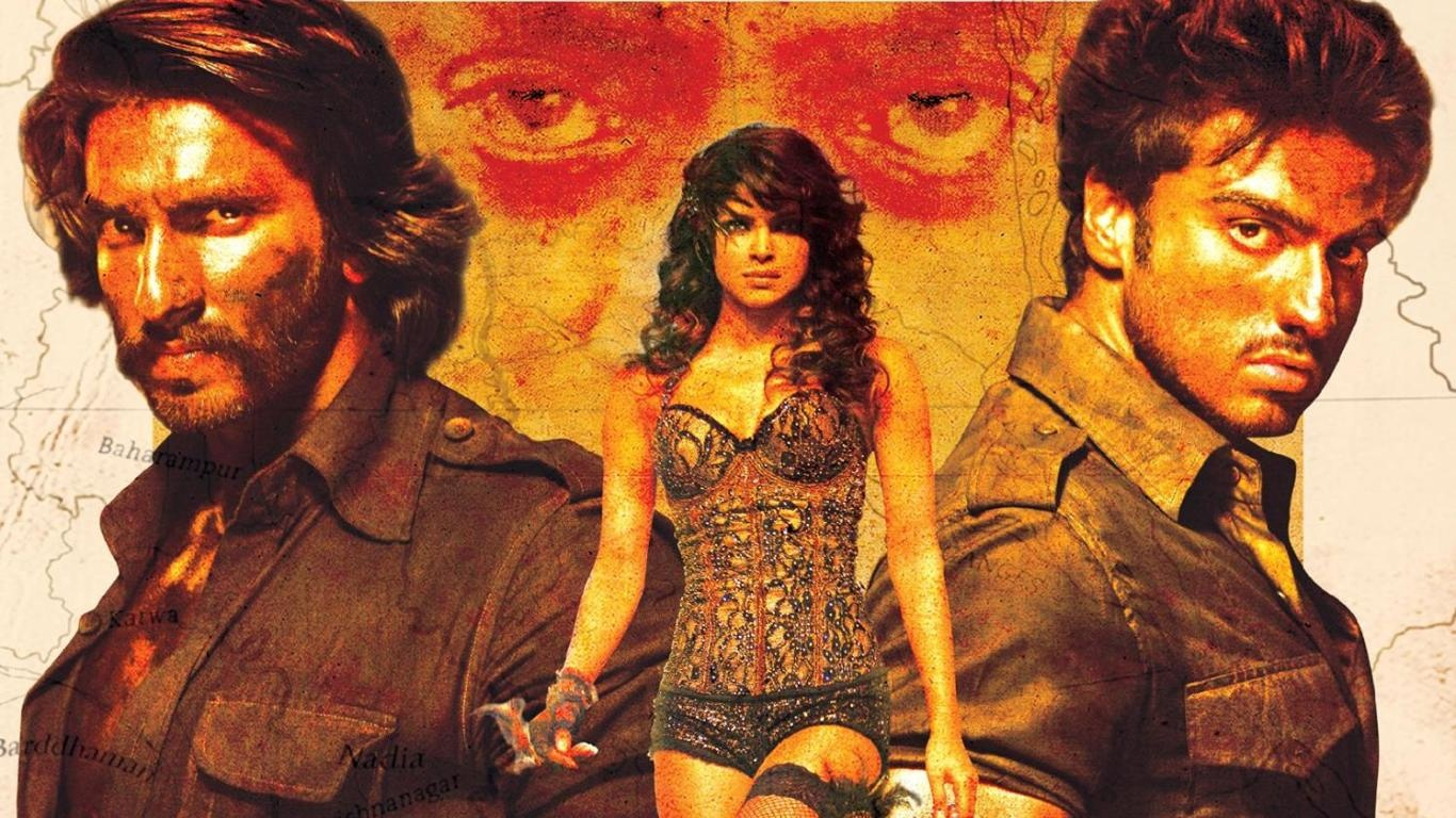 Ranveer Singh, Priyanka Chopra and Arjun Kapoor in  Gunday