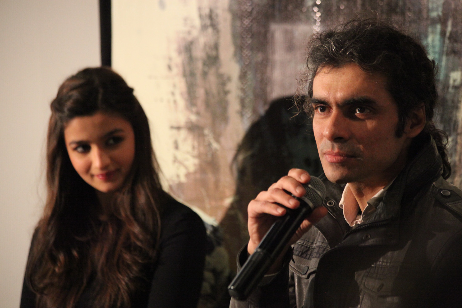 Alia Bhatt and Imtiaz Ali at the press conference for  Highway  in London