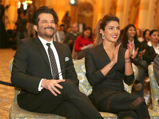 Anil Kapoor and Priyanka Chopra at the IIFA Press Meet in New York