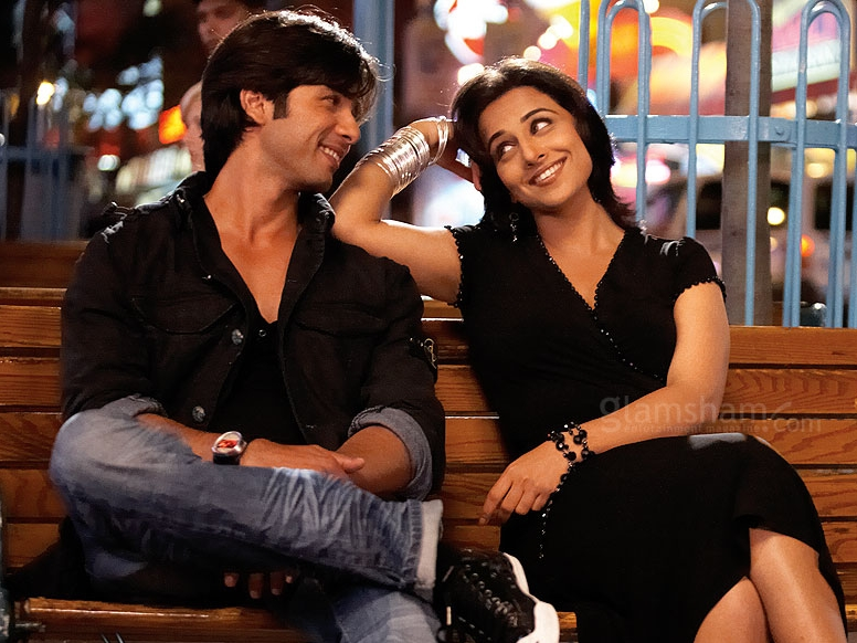 Vidya Balan ( Kismat Konnection )   Shahid and Vidya did not do it for me as a couple AT ALL. Vidya's features look far too mature next to Shahid's baby face, and despite being a likeable film with decent music,  Kismat Konnection  felt totally flat because the lead pair had virtually zero chemistry between them.