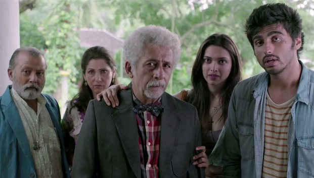 Pankaj Kapur, Dimple Kapadia, Naseerudin Shah, Deepika Padukone & Arjun Kapoor in Finding Fanny