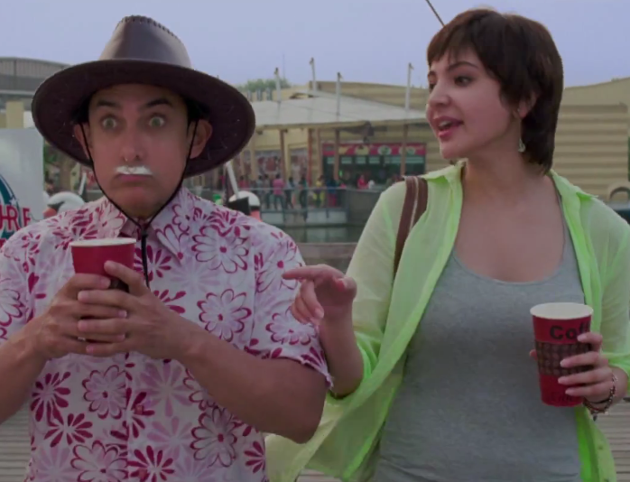 Aamir Khan and Anushka Sharma in PK