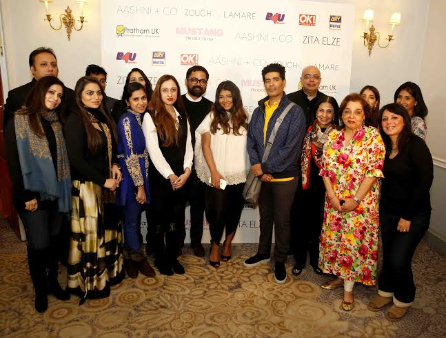 Varun Bahl, Monisha Thahryamal, Rimple Narula (Rimple and Harpreet Narula), Siddhartha Sacheti (Jaipur Gems), Sonali Gupta, Shehla Khan, Sabyasachi, Aashni Anshul Doshi (Shah) - event host, Manish Malhotra, Tarun Tahiliani, Leena (Ashima-Leena), Pallavi Jaikishan, Arpita Mehta, Nikasha &Anushree Reddy – Photograph credit: Adnan Qazi