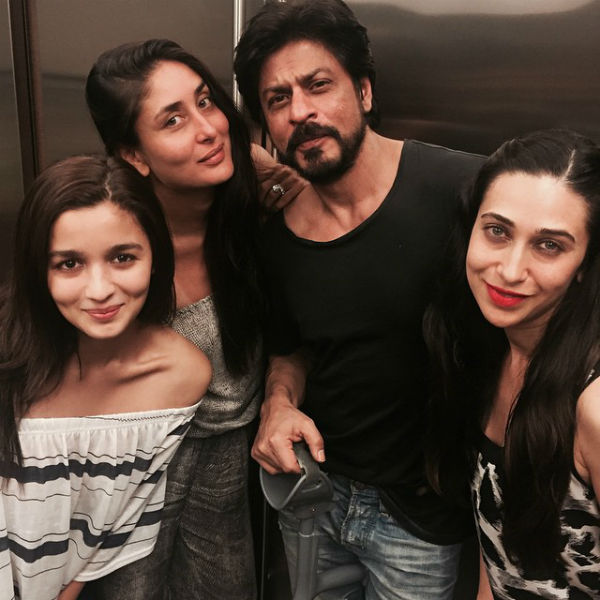 SRK, Alia, Karisma & Kareena at a recent bash