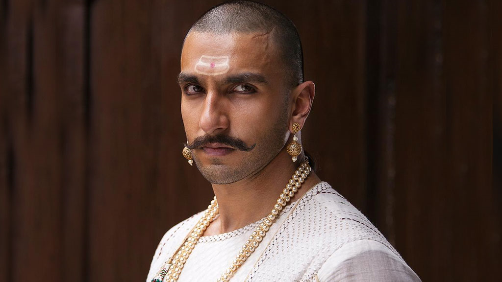 Ranveer Singh as Bajirao, a Marathi general who served as a Peshwa to the fourth Maratha Chhatrapati in  Bajirao Mastani
