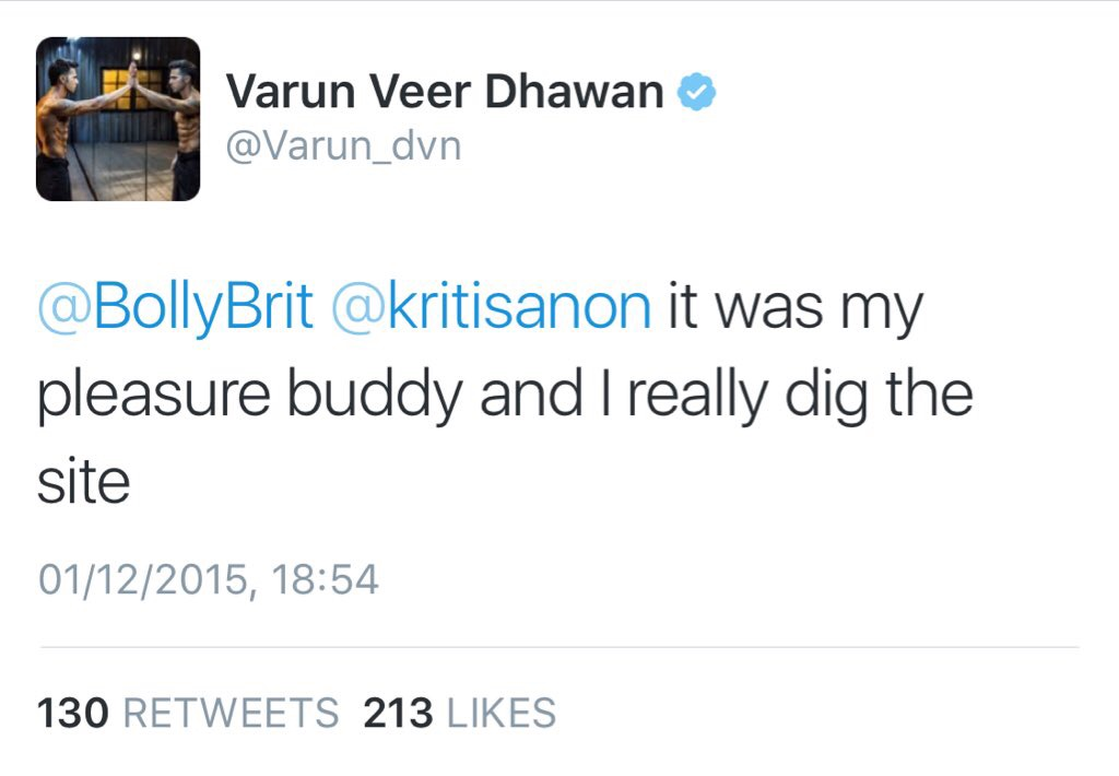 Even Varun digs the site!