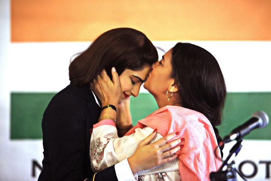 Sonam Kapoor and Shabana Azmi in a scene from  Neerja