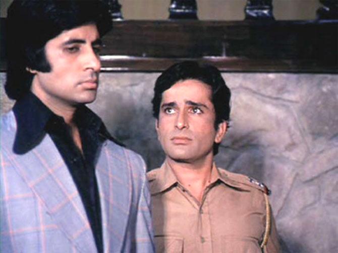 Amitabh Bachchan and Shashi Kapoor in  Deewar