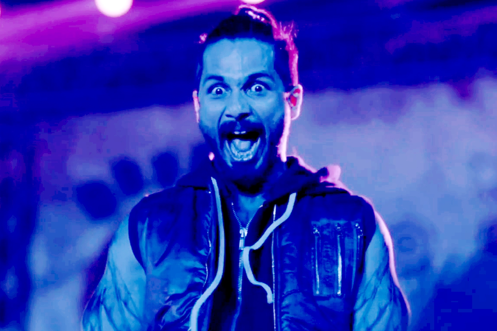 Shahid as the messed up rockstar in  Udta Punjab