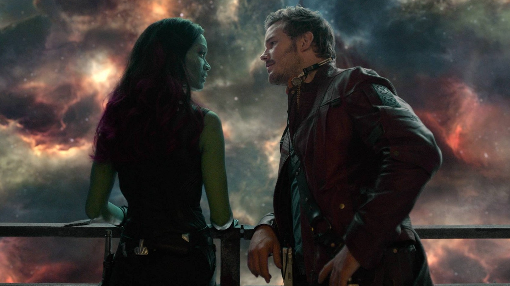 Pratt and Saldana in  Guardians Of The Galaxy Vol.2