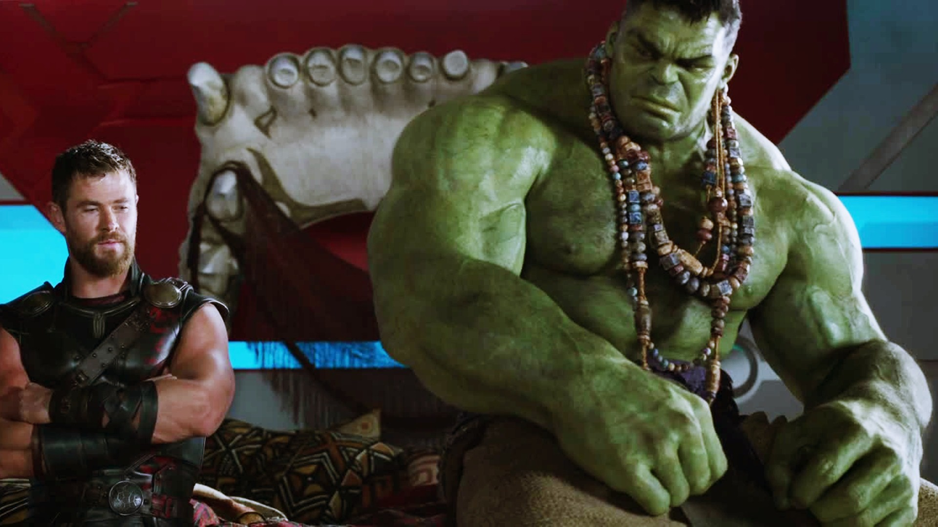 The exchanges between Thor and the Hulk are one of the high points of the movie