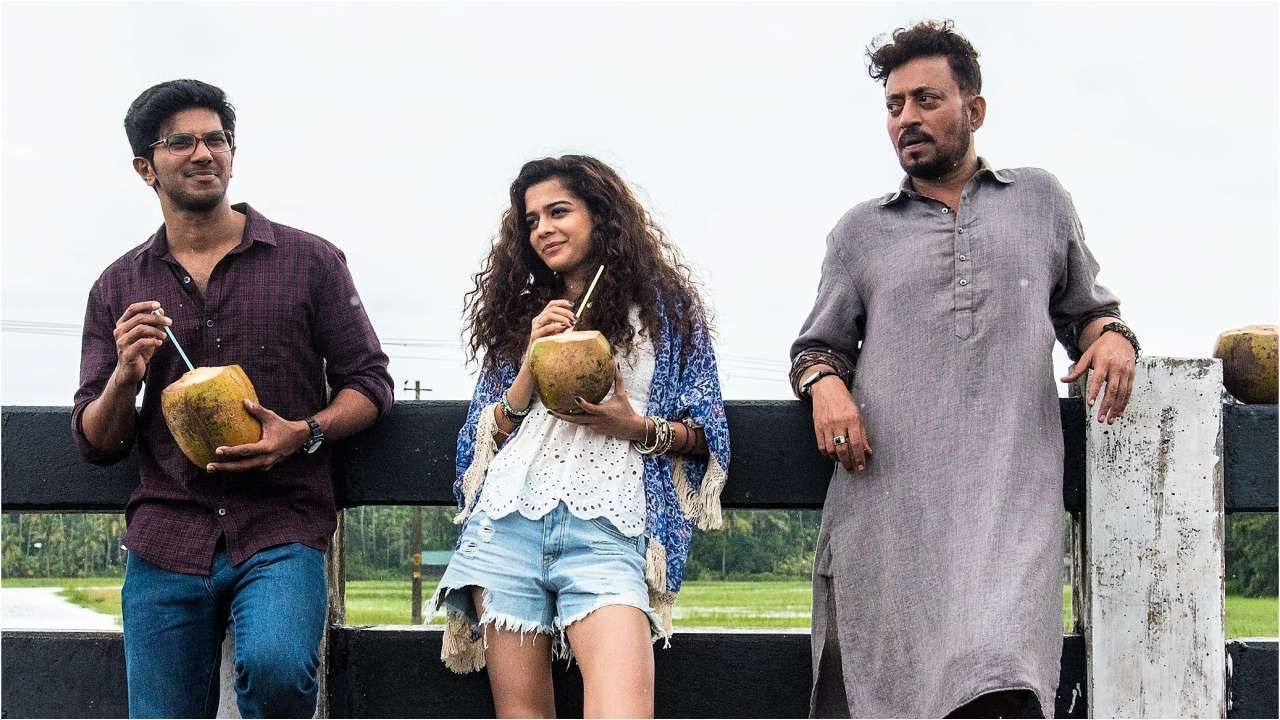 Dulquer in his Bollywood debut,  Karwaan , with Irrfan Khan and Mithila Palkar