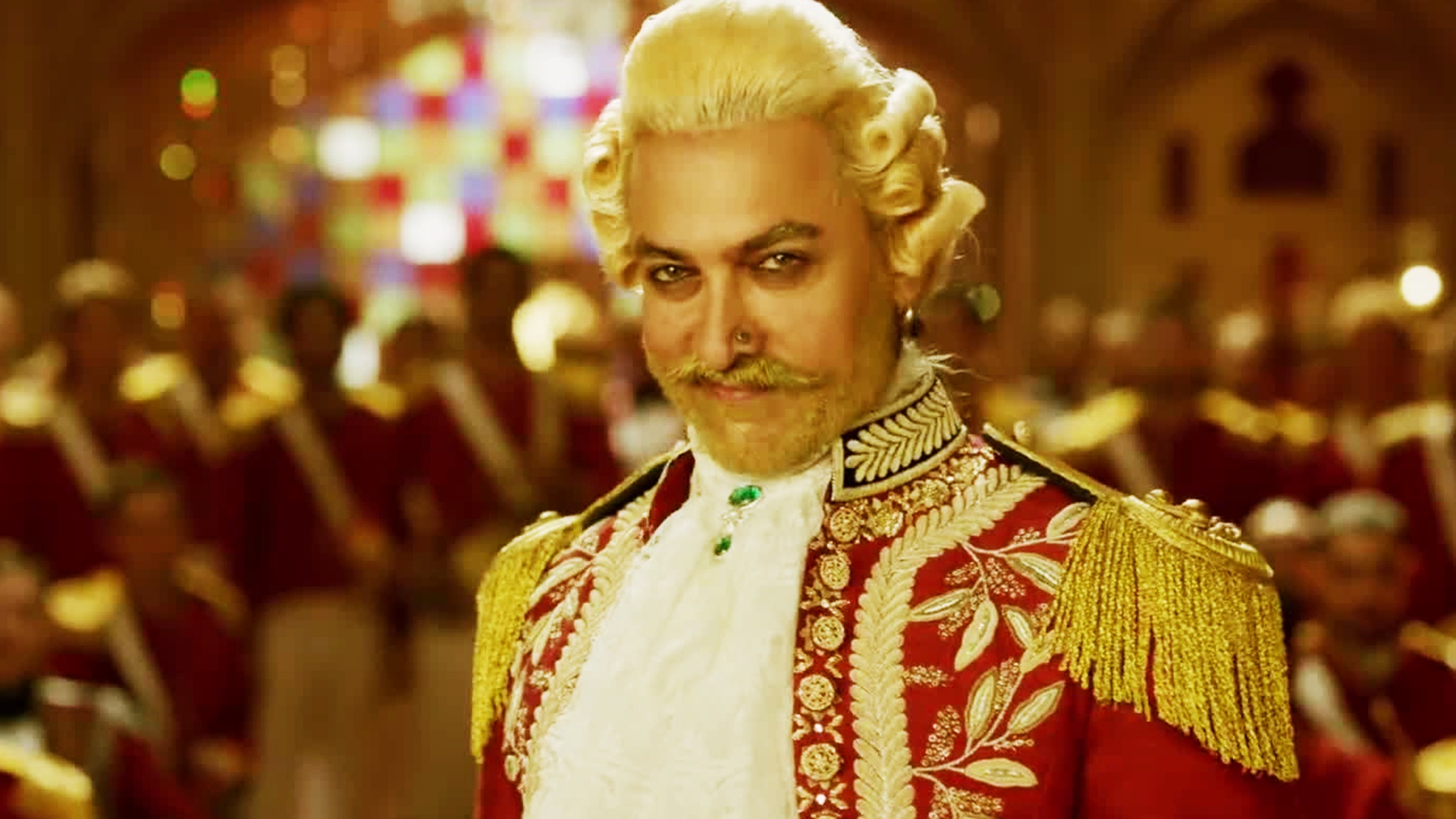 Aamir's character works in a few parts but it is a laboured performance