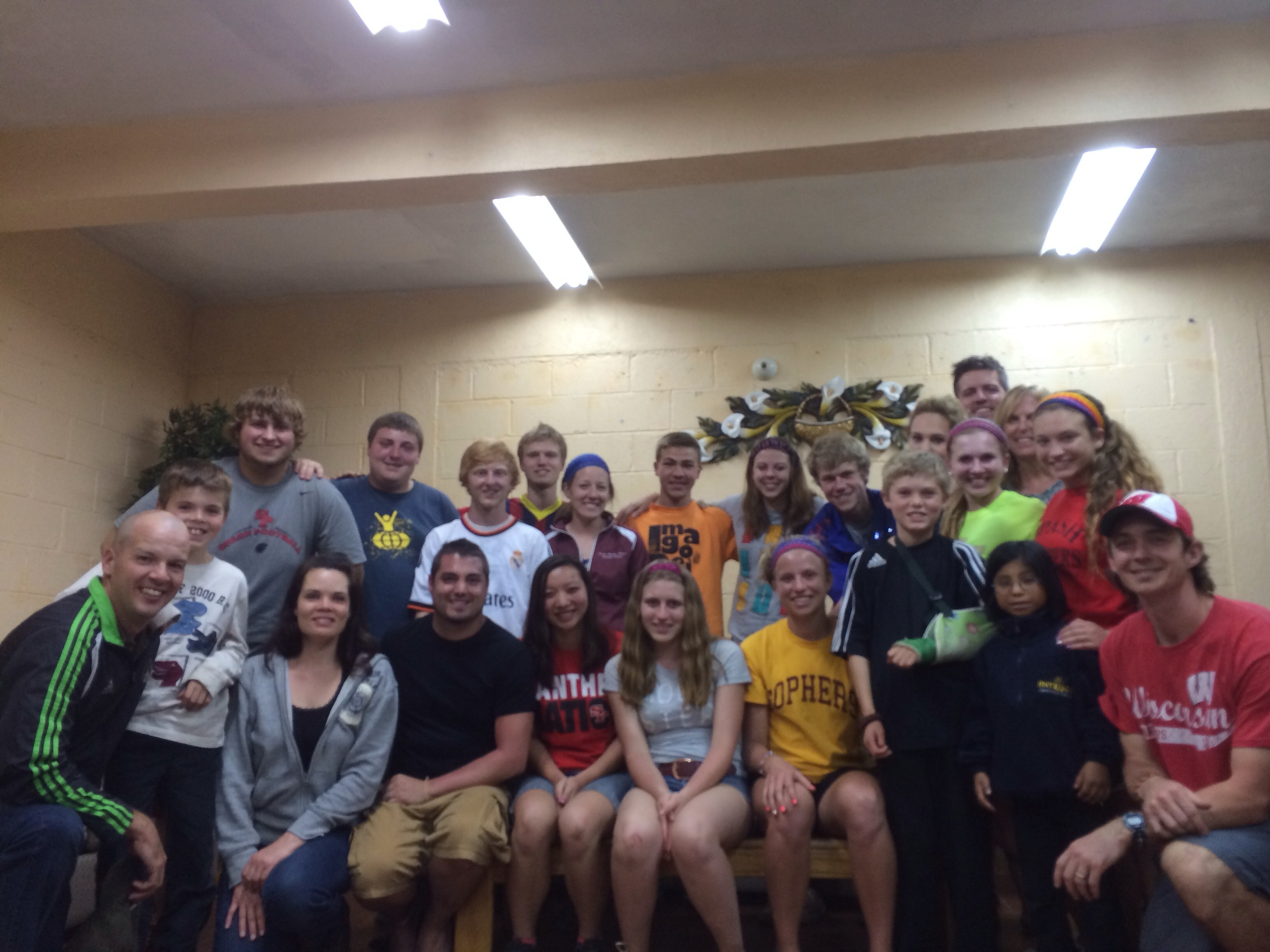 the team with the amazing Kingston's during our last team meeting last night