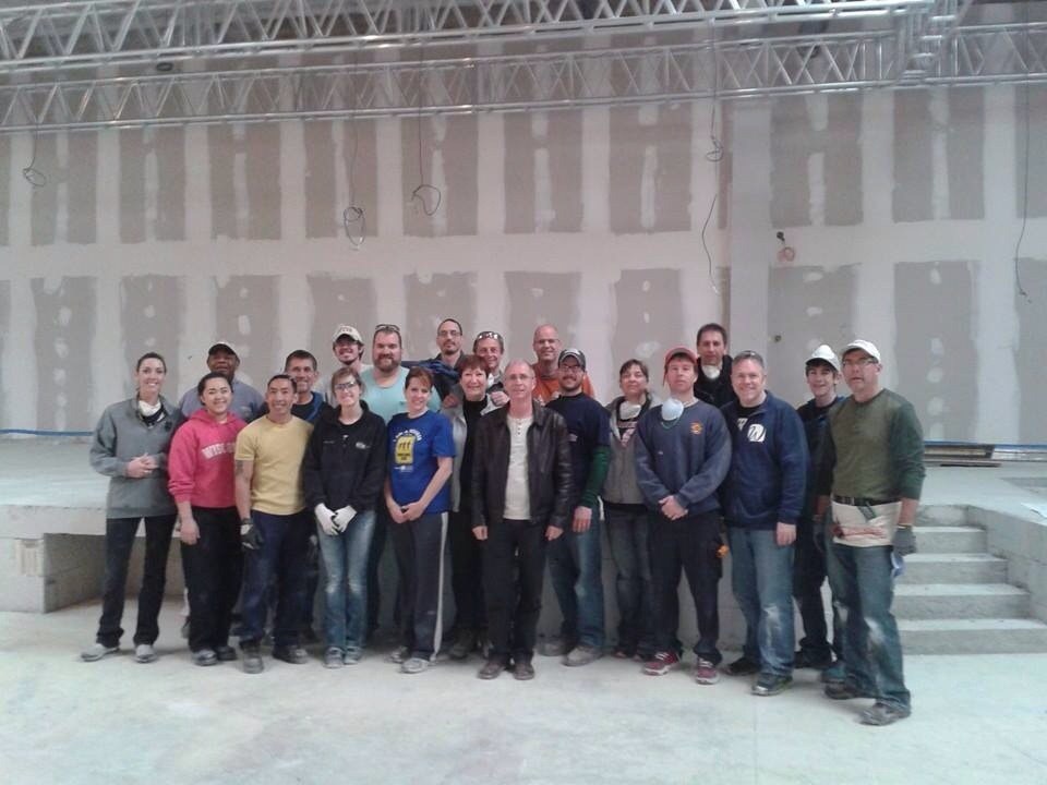 Our team & Phillip (the foreman) plus a few other volunteer workers