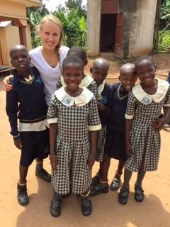 April loving on these sweet children.