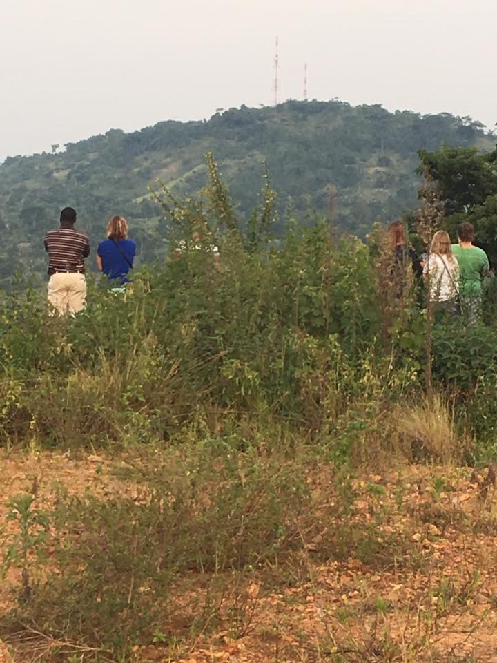 Looking over Bukeka village and hearing Ronnie's vision.