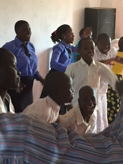 Sunday worship & song performance by students of the Suubi Center.