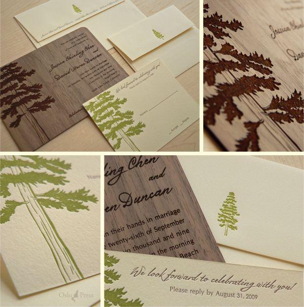 Contrasting between natural wood and printed ink.