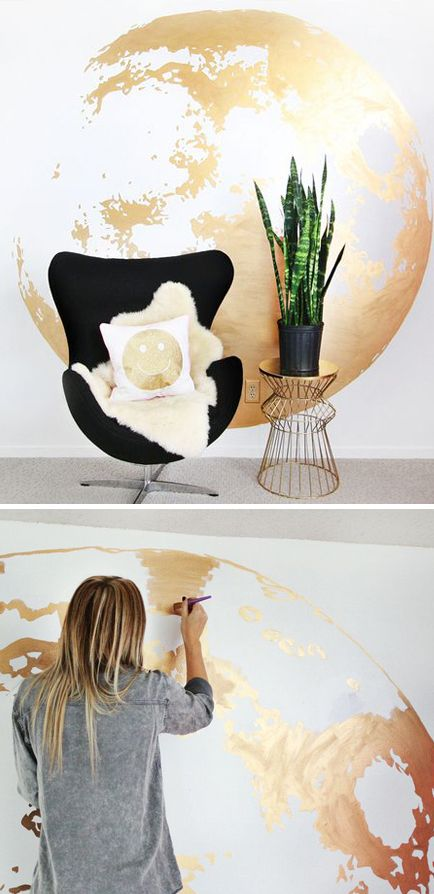 Gold leafing is a great organic texture combined with a sort of mechanical contrast.