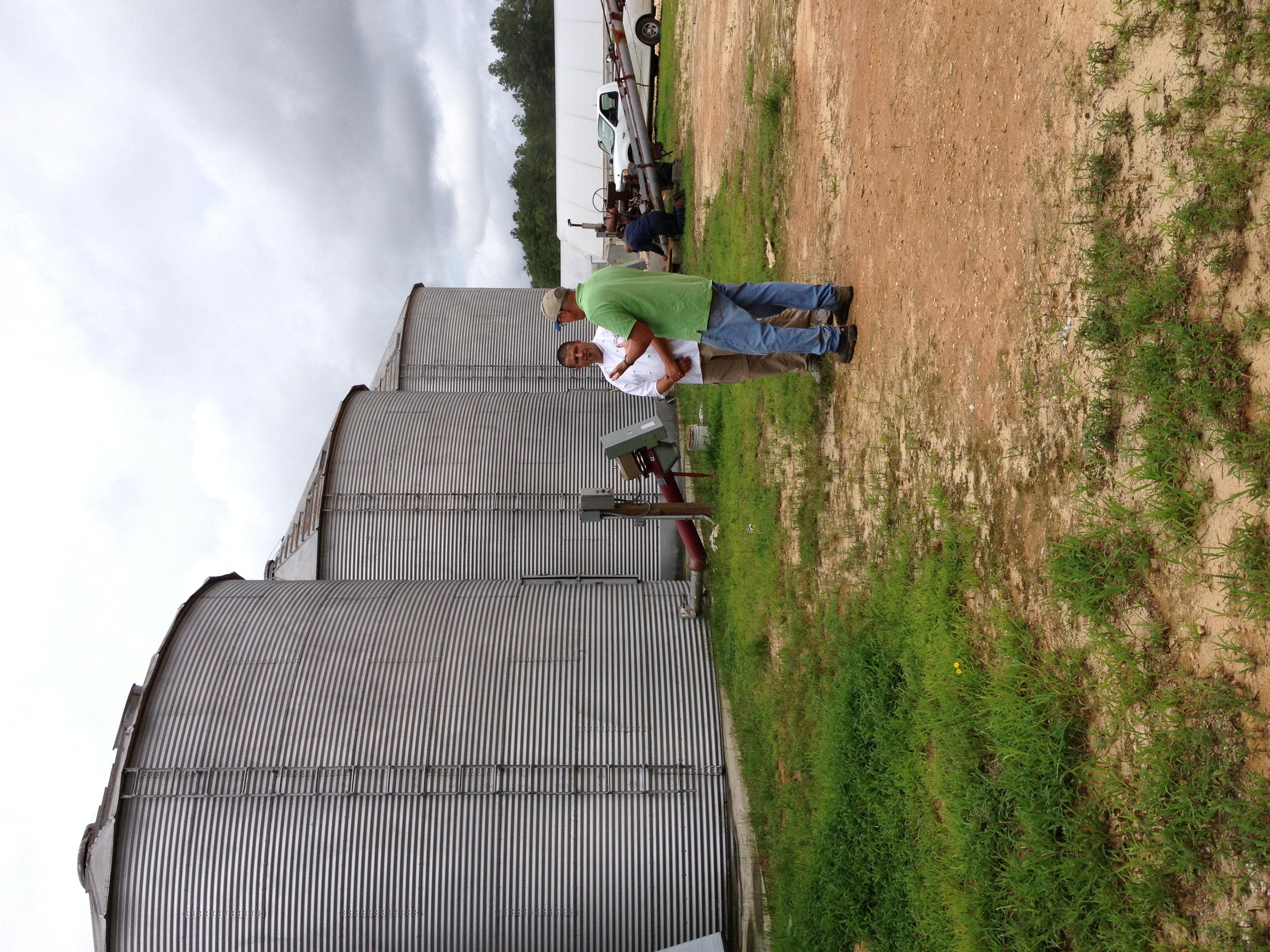 Baker Lionel Vatinet with grower Billy Carter, Carter Farms