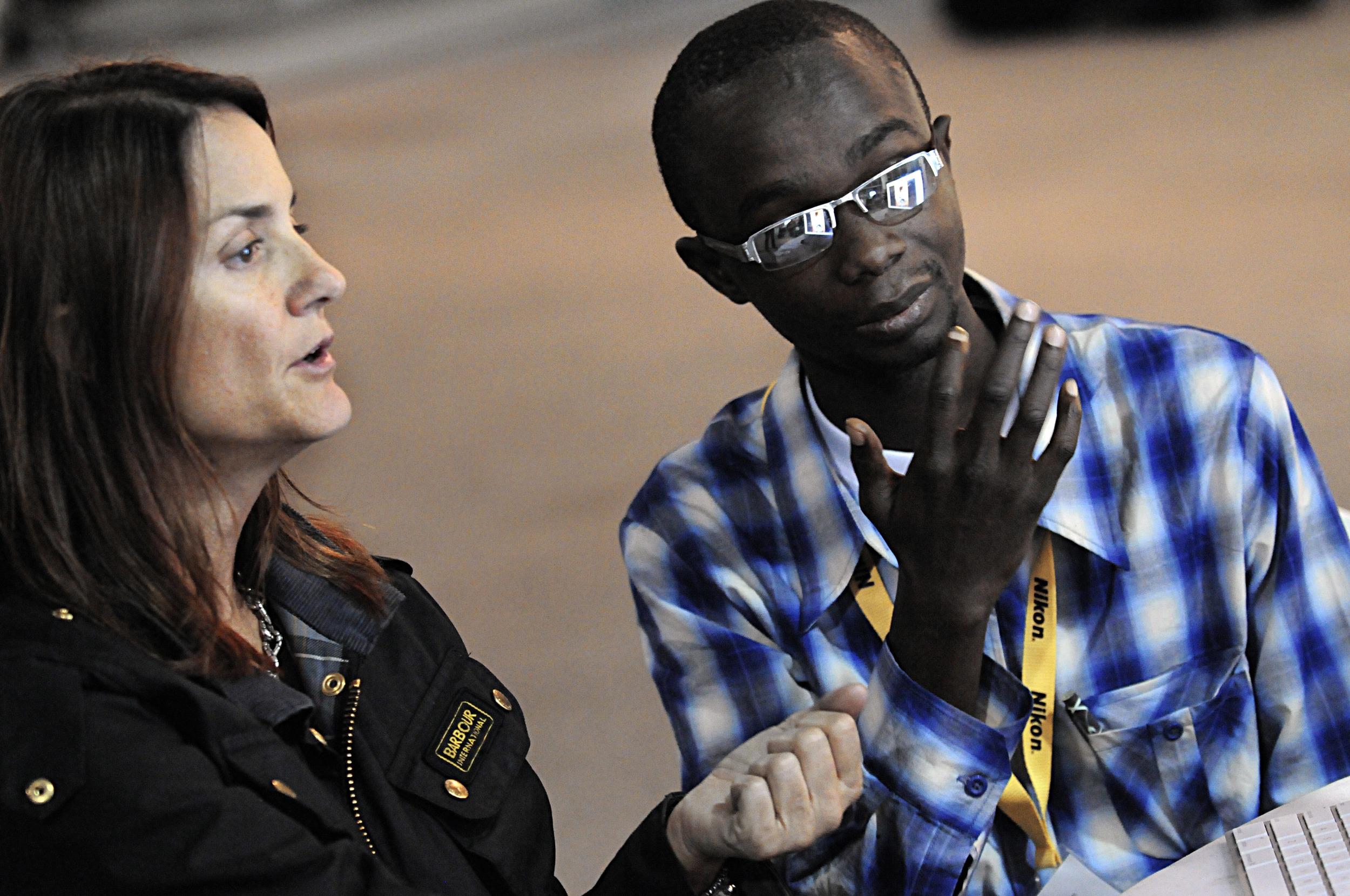Liberian investigative journalist Nat Bayjay